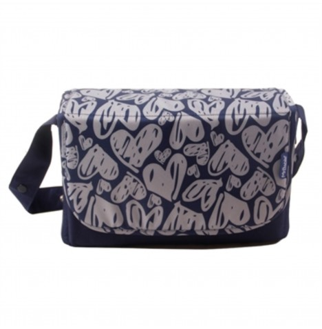 My Babiie Changing Bag - Navy Hearts..