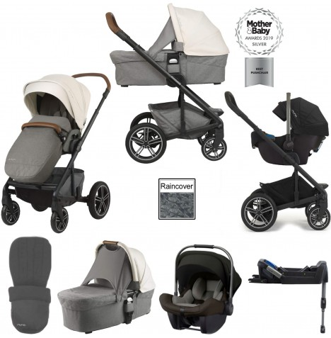 Nuna Mixx (Pipa Lite) Travel System, Isofix Base & Carrycot - Birch