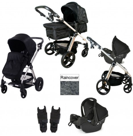 My Babiie MB150 Gemm Travel System - Croc Black