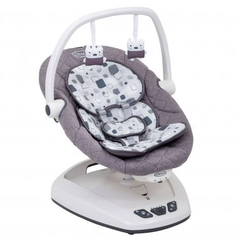 Graco Move With Me Swing (With Canopy) - Block Party