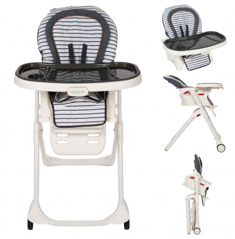 Graco Table2Boost 2in1 Highchair / Booster - Breton Stripe