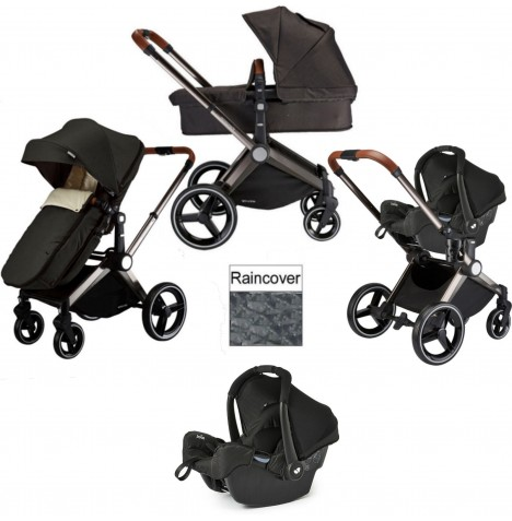 Venice Child Kangaroo 3 in 1 Gemm Travel System - Charcoal