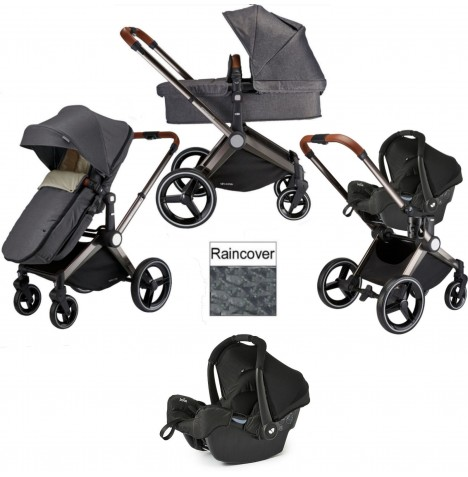 Venice Child Kangaroo 3 in 1 Gemm Travel System - Twilight Grey