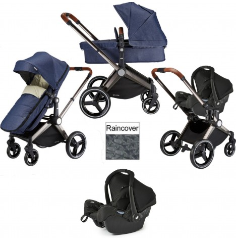 Venice Child Kangaroo 3 in 1 Gemm Travel System - Denim Blue