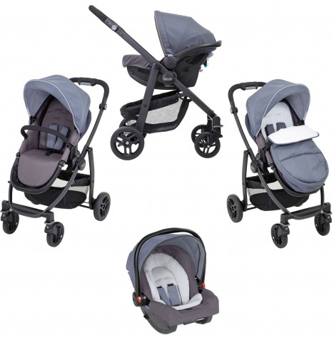Graco Evo (SnugRide R44) Travel System - Mineral