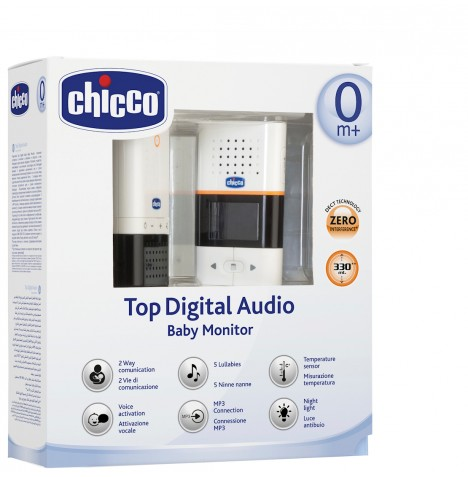 new chicco top digital audio baby monitor with talkback. Black Bedroom Furniture Sets. Home Design Ideas