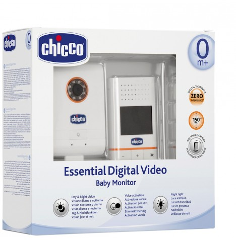 chicco essential digital video baby monitor with infra red nightvision camera ebay. Black Bedroom Furniture Sets. Home Design Ideas