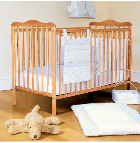 4Baby Solid Wood Eva Classic Cot With Foam Mattress - Country Pine