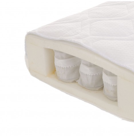 Obaby All Seasons Pocket Sprung Cot Bed Safety Mattress 140 x 70cm
