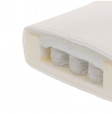 Obaby Dual Core Fibre / Pocket Sprung Cot Bed Safety Mattress 140 x 70cm