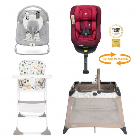 Joie All You Need Spin Car Seat Starter Bundle - Merlot