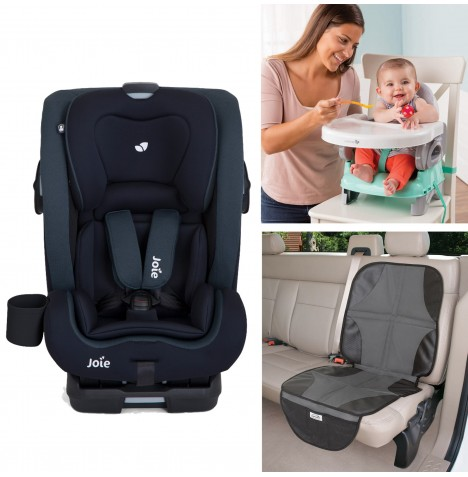 Joie All You Need Bold Car Seat Bundle - Deep Sea