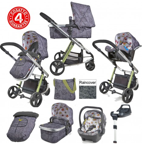 Cosatto Giggle 2 Dock I-Size Travel System With Accessories & Isofix Base - Dawn Chorus