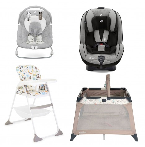 Joie All You Need Stages Car Seat Starter Bundle - Slate