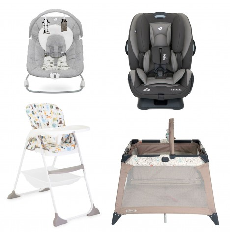 Joie All You Need Every Stage Car Seat Starter Bundle - Dark Pewter