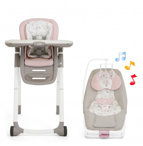 Joie All You Need Highchair & Rocker Starter Bundle - Forever Flowers