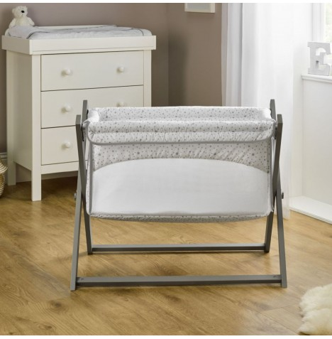 Clair De Lune Nursery Folding Breathable Crib - Stars & Stripes