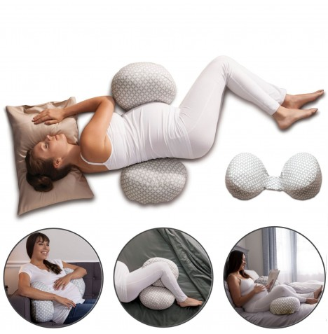 Chicco Boppy Bump & Back 3 In 1 Support Pillow - Glacier..