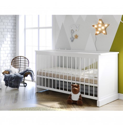 Little Acorns Sophia Cot Bed & Deluxe Maxi Air Cool Cot  Mattress - White