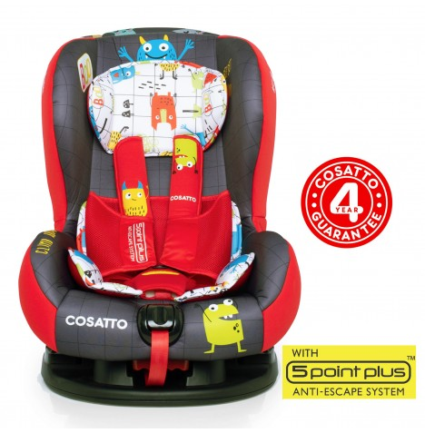 Cosatto Moova 2 Group 1 Car Seat - Monster Mob