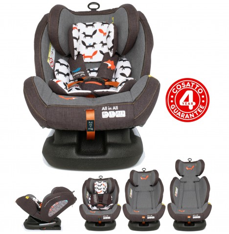 Cosatto All In All Group 0+,1,2,3 Isofix Car Seat - Mister Fox