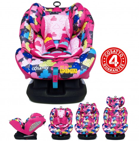 Cosatto All In All Group 0+,1,2,3 Isofix Car Seat - Fairy Clouds