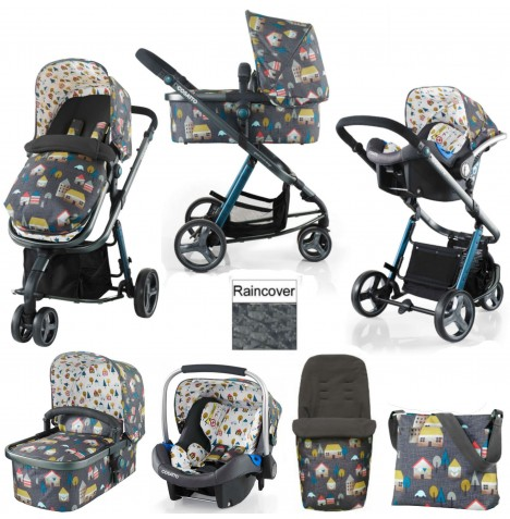 Cosatto Giggle 2 Combi 3 in 1 (Port) Travel System - Grey Hygge Houses
