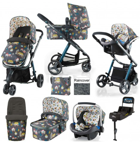 Cosatto Giggle 2 (Port) Travel System & Isofix Base - Grey Hygge Houses