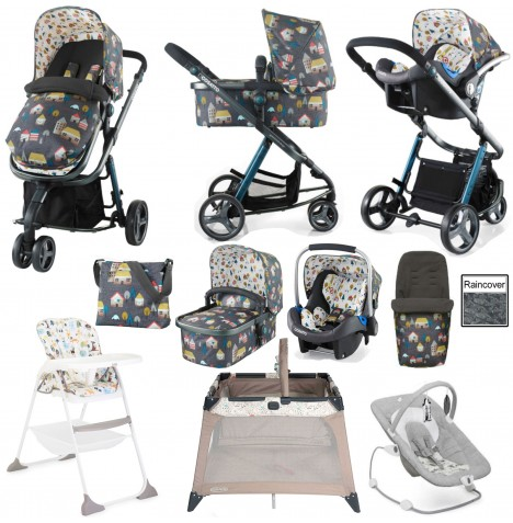 Joie / Cosatto Giggle 2 Everything You Need (Port) Travel System Bundle - Grey Hygge Houses