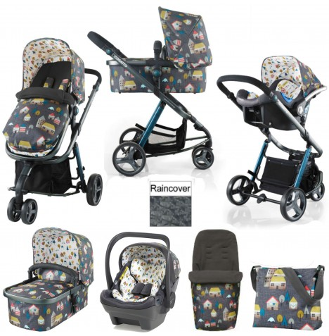 Cosatto Giggle 2 Combi 3 in 1 (Dock) Travel System - Grey Hygge Houses