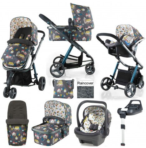 Cosatto Giggle 2 (Dock) Travel System & Isofix Base - Grey Hygge Houses