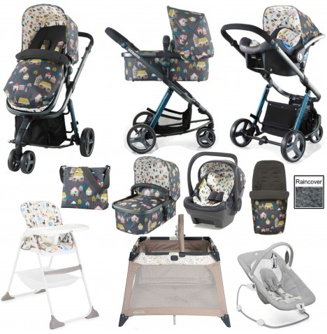 Joie / Cosatto Giggle 2 Everything You Need (Dock) Travel System Bundle - Grey Hygge Houses