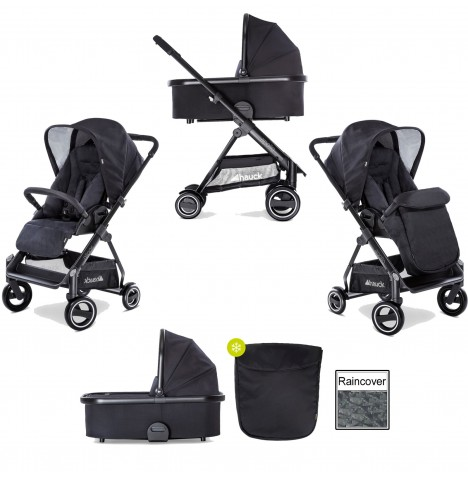 Hauck Apollo 2 in 1 Pushchair - Caviar