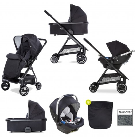 Hauck Apollo Travel System & Carrycot - Caviar