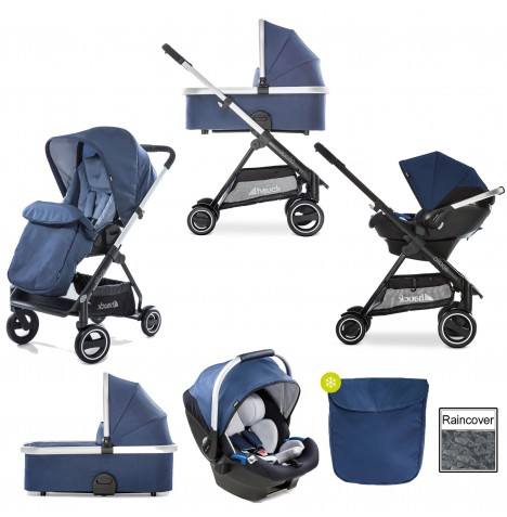 Hauck Apollo Travel System & Carrycot - Denim
