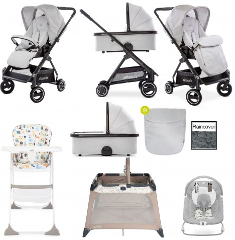 Hauck Apollo Everything You Need Pushchair & Carrycot Bundle - Lunar