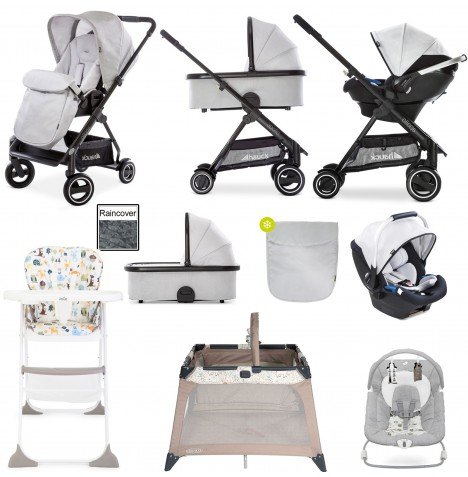 Hauck Apollo Everything You Need Travel System & Carrycot Bundle - Lunar
