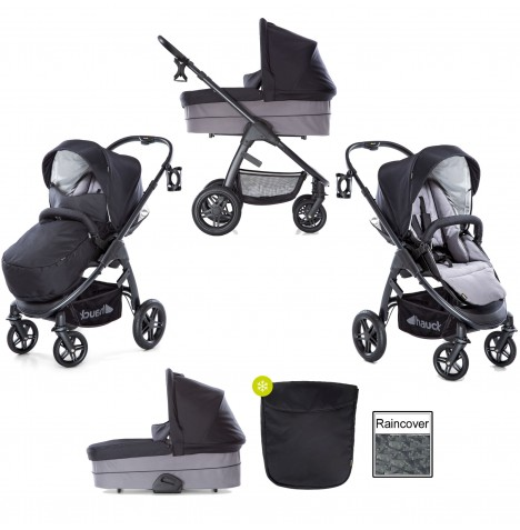 Hauck Saturn R Pushchair & Carrycot - Caviar / Stone