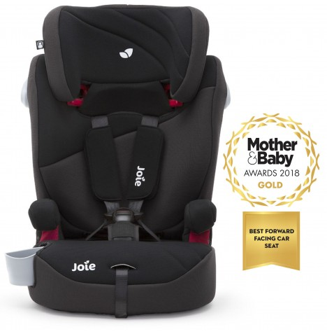 Joie Elevate 2.0 Group 123 Deluxe Padded High Back Booster Car Seat - Two Tone Black