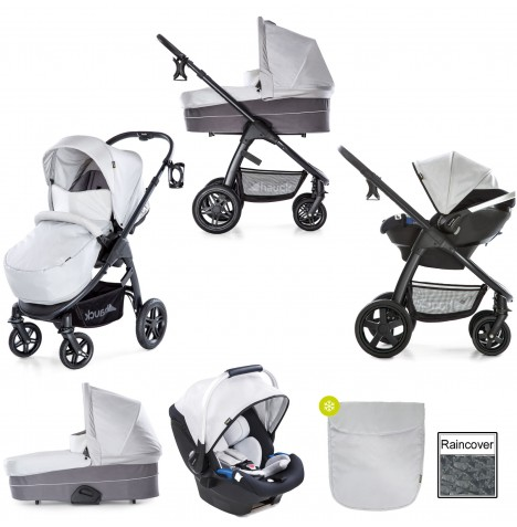 Hauck Saturn R Travel System & Carrycot - Lunar / Stone