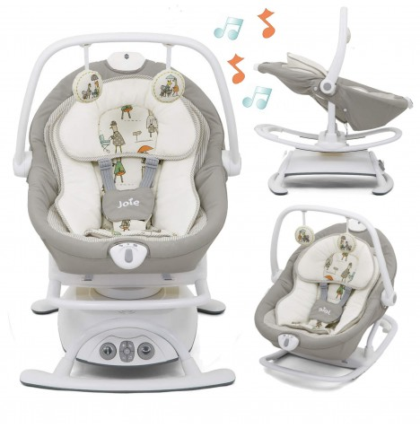 Joie Sansa 2in1 Rocker / Soother - In The Rain..