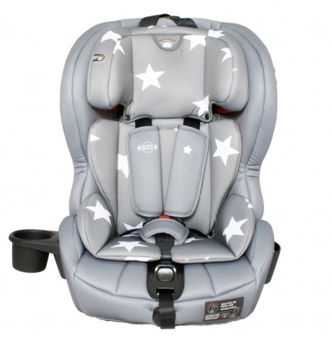 My Babiie Group 123 ISOFIX Car Seat - Grey Stars