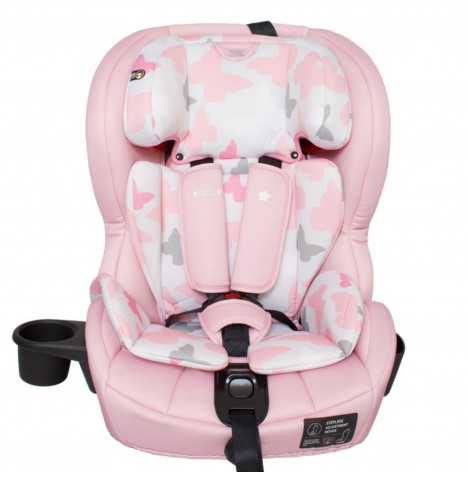My Babiie Group 123 ISOFIX Car Seat *Katie Piper Collection* - Pink Butterflies