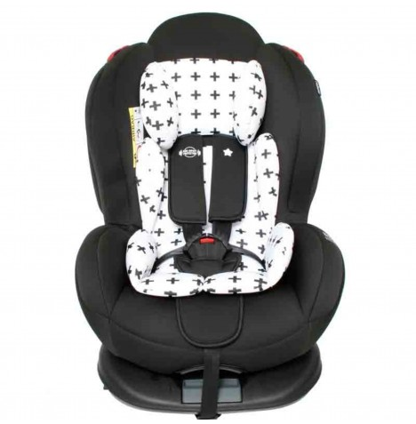 My Babiie Group 0,1,2 ISOFIX Car Seat - Black Crosses