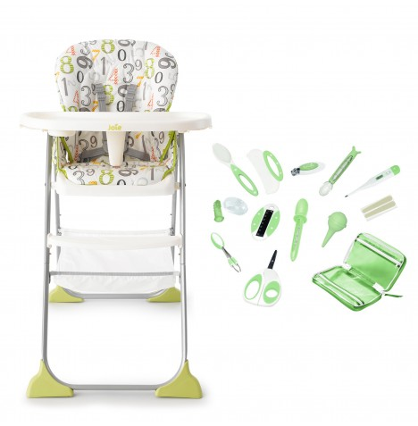 Joie Mimzy Snacker Highchair + Summer Infant Deluxe Baby Grooming Kit - 123 / Green