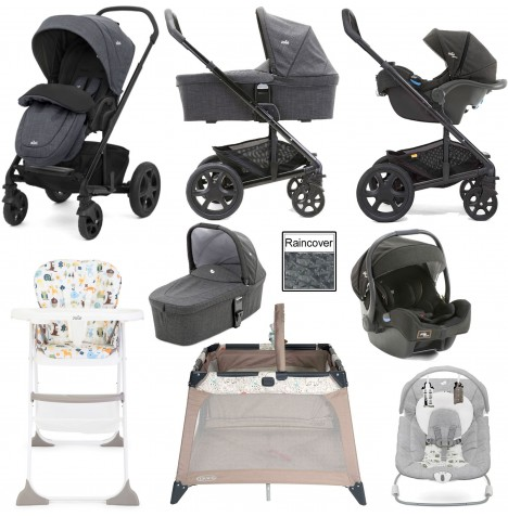 Joie Chrome DLX Everything You Need (i-Gemm) Travel System & Carrycot Bundle - Pavement / Noir