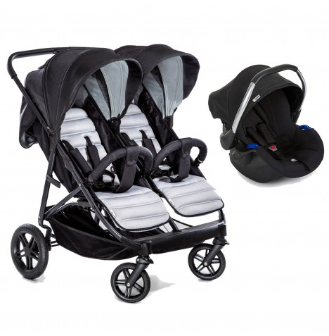 Hauck Rapid 3R Duo (Comfort Fix) Travel System - Silver / Charcoal
