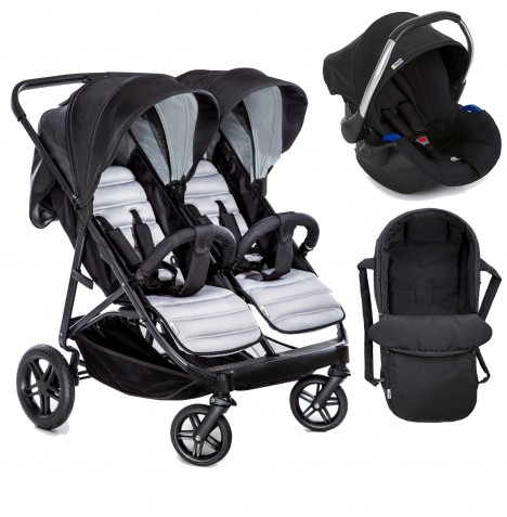 Hauck Rapid 3R Duo (Comfort Fix) Travel System & Carrycot - Silver / Charcoal