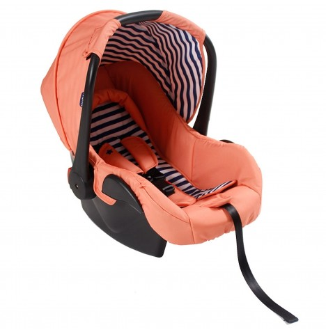 My Babiie Group 0+ Car Seat - Coral Blue Stripes