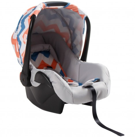 My Babiie Group 0+ Car Seat - Coral Chevron